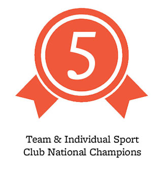 5 team & individual sport club national champions