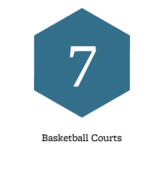 7 basketball courts