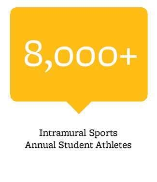 8,000+ intramural sports annual athletes