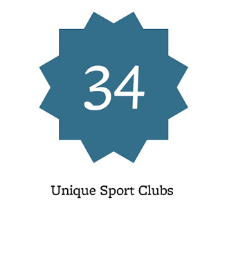 34 unique sport clubs