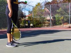 Golden bear tennis court